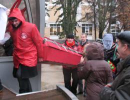 Белгородские коммунисты провели митинг против нарушений на выборах
