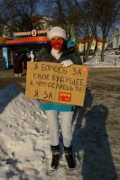 Белгородские комсомольцы провели театрализованную акцию «Я – за КПРФ»