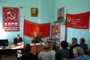 Белгородская область. С.В. Муравленко на встрече с шебекинскими коммунистами: «Партию «Единая Россия» ждет незавидная участь»
