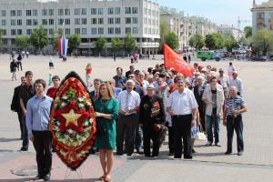 Коммунисты Белгорода провели возложение цветов  и праздничный митинг ко Дню Победы