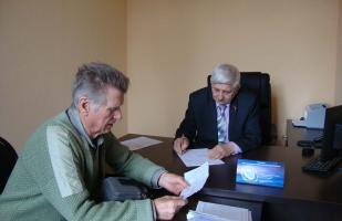 Депутатский прием в поселке Прохоровка