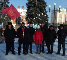 Старооскольские комсомольцы приняли усастие в праздновании дня освобождения п. Чернянка