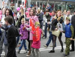 Белгородцы отпраздновали День Победы под красными флагами