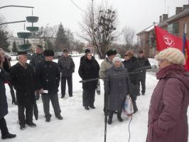 Шебекинцы провели митинг в поддержку П.Н. Грудинина