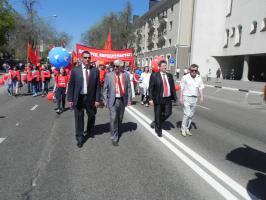 Белгородские коммунисты отметили праздник 1 Мая демонстрацией и митингом