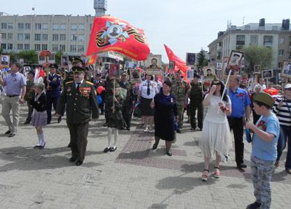 Белгородские коммунисты и их союзники приняли участие в шествии Бессмертного полка