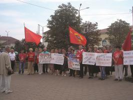 Митинг в городе Валуйки