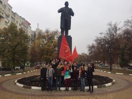 Комсомольцы празднуют вековой юбилей ВЛКСМ