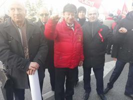 7 ноября коммунисты и комсомольцы Белгородской области приняли участие в праздничном шествии в Москве