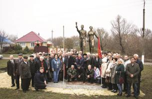Открытие памятника комсомольцам